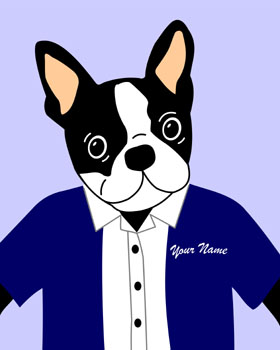 Boston Terrier Dog Customized Pup Pop Art Picture Print