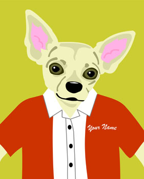 Chihuahua Dog Customized Name & Colors! Pop Art Print