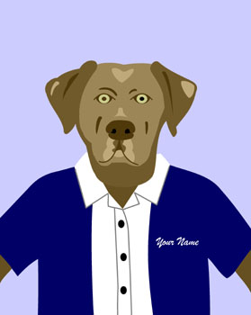 Chocolate Labrador Retriever Dog Custom Pop Art Print
