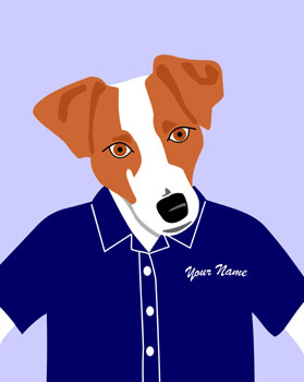 Jack Russell Terrier Dog Customized Name Pop Art Print