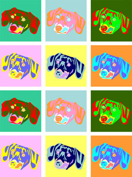 Dachshund Doxie Weiner Dog Pup Colorful Pop Art Print
