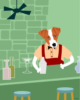 Jack Russell Terrier Dog Cocktail Shaker Pop Art Print