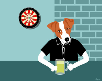 Jack Russell Terrier Dog Beer Pub Mug Pop Art Print