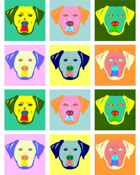 Yellow Labrador Retriever Modern Colors Pop Art Print
