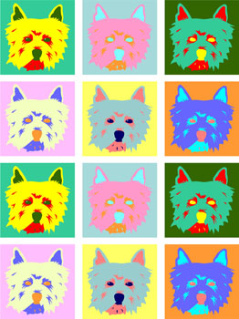 West Highland White Terrier 12 Colorful Pop Art Print